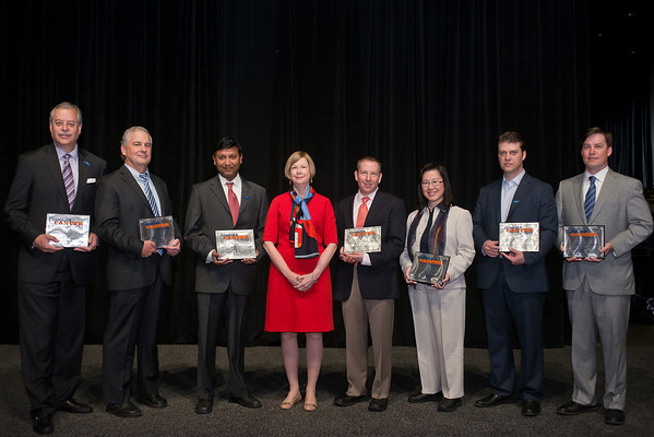 Chicago, IL - ASCO 2013 Annual Meeting: - Dr. Sandra Swain, center, with the Clinical Trials Award winners during Clinical Trials Participation Awards at the American Society for Clinical Oncology (ASCO) Annual Meeting here today, Sunday June 2, 2013.  Over 30,000 physicians, researchers and healthcare professionals from over 100 countries are attending the meeting which is being held at the McCormick Convention center and features the latest cancer research in the areas of basic and clinical science. Photo by © ASCO/Brian Powers 2013 Technical Questions: todd@toddbuchanan.com; ASCO Contact: photos@asco.org