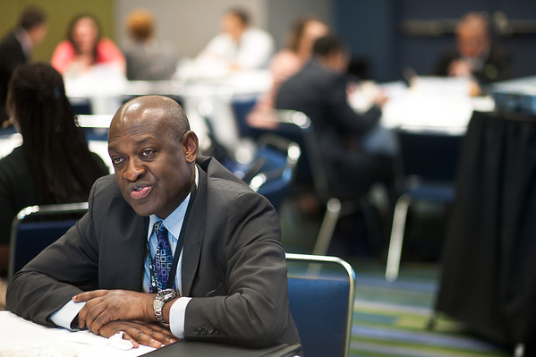 Chicago, IL - ASCO 2013 Annual Meeting: - Pascal Jean-Pierre, PhD, MPH,  during DOI Meeting and Greet at the American Society for Clinical Oncology (ASCO) Annual Meeting here today, Saturday June 1, 2013.  Over 30,000 physicians, researchers and healthcare professionals from over 100 countries are attending the meeting which is being held at the McCormick Convention center and features the latest cancer research in the areas of basic and clinical science. Photo by © ASCO/Brian Powers 2013 Technical Questions: todd@toddbuchanan.com; ASCO Contact: photos@asco.org