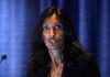 "Chicago, IL - ASCO 2013 Annual Meeting: - Padmanee Sharma, M.D., Ph.D., speaks during the ""Developmental Therapeutics - Immunotherapy, Oral Abstract Session"" at the American Society for Clinical Oncology (ASCO) Annual Meeting here today, Monday June 3, 2013.  Over 30,000 physicians, researchers and healthcare professionals from over 100 countries are attending the meeting which is being held at the McCormick Convention center and features the latest cancer research in the areas of basic and clinical science. Photo by © ASCO/Phil McCarten 2013 Technical Questions: todd@toddbuchanan.com; ASCO Contact: photos@asco.org"