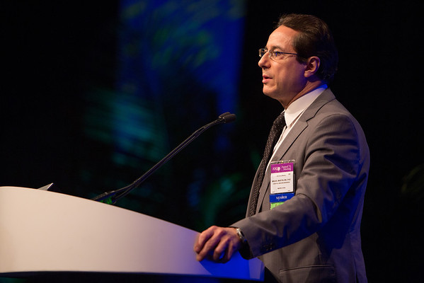 Chicago, IL - ASCO 2013 Annual Meeting: - Miguel Martin speaks during the Oral Abstract Session: Breast Cancer - Triple-Negative/Cytotoxics/Local Therapy at the American Society for Clinical Oncology (ASCO) Annual Meeting here today, Friday May 31, 2013.  Over 30,000 physicians, researchers and healthcare professionals from over 100 countries are attending the meeting which is being held at the McCormick Convention center and features the latest cancer research in the areas of basic and clinical science. Photo by © ASCO/Scott Morgan 2013 Technical Questions: todd@toddbuchanan.com; ASCO Contact: photos@asco.org
