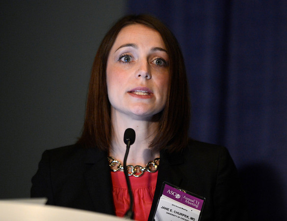 Chicago, IL - ASCO 2013 Annual Meeting: - Jane Churpek speaks during Cancer Prevention/Epidemiology Oral Abstract Session at the American Society for Clinical Oncology (ASCO) Annual Meeting here today, Monday June 3, 2013.  Over 30,000 physicians, researchers and healthcare professionals from over 100 countries are attending the meeting which is being held at the McCormick Convention center and features the latest cancer research in the areas of basic and clinical science. Photo by © ASCO/Phil McCarten 2013 Technical Questions: todd@toddbuchanan.com; ASCO Contact: photos@asco.org