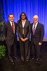 Chicago, IL - ASCO 2013 Annual Meeting: - ASCO President Clifford A. Hudis, MD, FACP, (from left) Saima N. Hassan, MD, PhD, and Larry Norton, MD, at the American Society for Clinical Oncology (ASCO) Annual Meeting here today, Friday May 31, 2013.  Over 30,000 physicians, researchers and healthcare professionals from over 100 countries are attending the meeting which is being held at the McCormick Convention center and features the latest cancer research in the areas of basic and clinical science. Photo by © ASCO/Scott Morgan 2013 Technical Questions: todd@toddbuchanan.com; ASCO Contact: photos@asco.org
