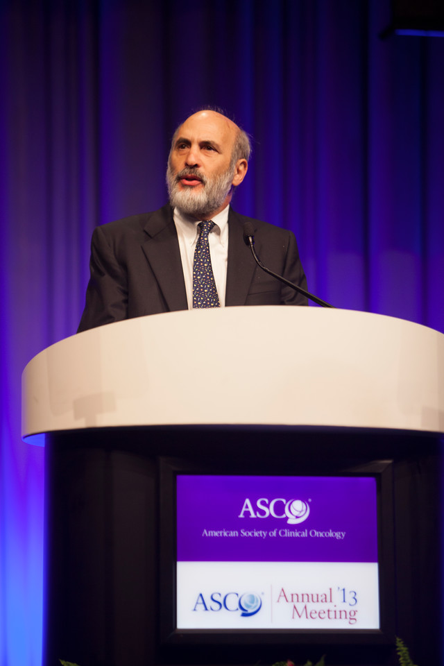 Chicago, IL - ASCO 2013 Annual Meeting: - Dr. Link speaks during Humanitarian Award at Opening Session at the American Society for Clinical Oncology (ASCO) Annual Meeting here today, Saturday June 1, 2013.  Over 30,000 physicians, researchers and healthcare professionals from over 100 countries are attending the meeting which is being held at the McCormick Convention center and features the latest cancer research in the areas of basic and clinical science. Photo by © ASCO/Silas Crews 2013 Technical Questions: todd@toddbuchanan.com; ASCO Contact: photos@asco.org