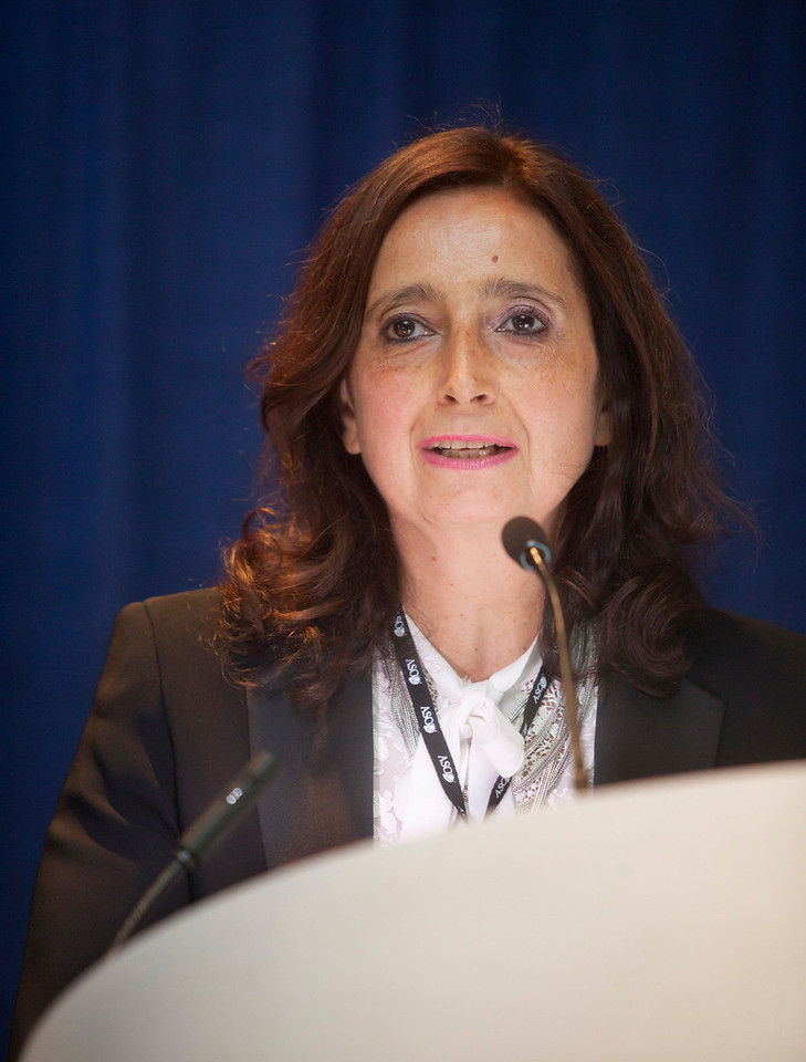"""Chicago, IL - ASCO 2013 Annual Meeting: - Antonella Surbone during """"What Is Professionalism in the Era of Personalized Global Cancer Care? Bridging What We Say, Teach, and Do"""" at the American Society for Clinical Oncology (ASCO) Annual Meeting here today, Saturday June 1, 2013.  Over 30,000 physicians, researchers and healthcare professionals from over 100 countries are attending the meeting which is being held at the McCormick Convention center and features the latest cancer research in the areas of basic and clinical science. Photo by © ASCO/Todd Buchanan 2013 Technical Questions: todd@toddbuchanan.com; ASCO Contact: photos@asco.org"""