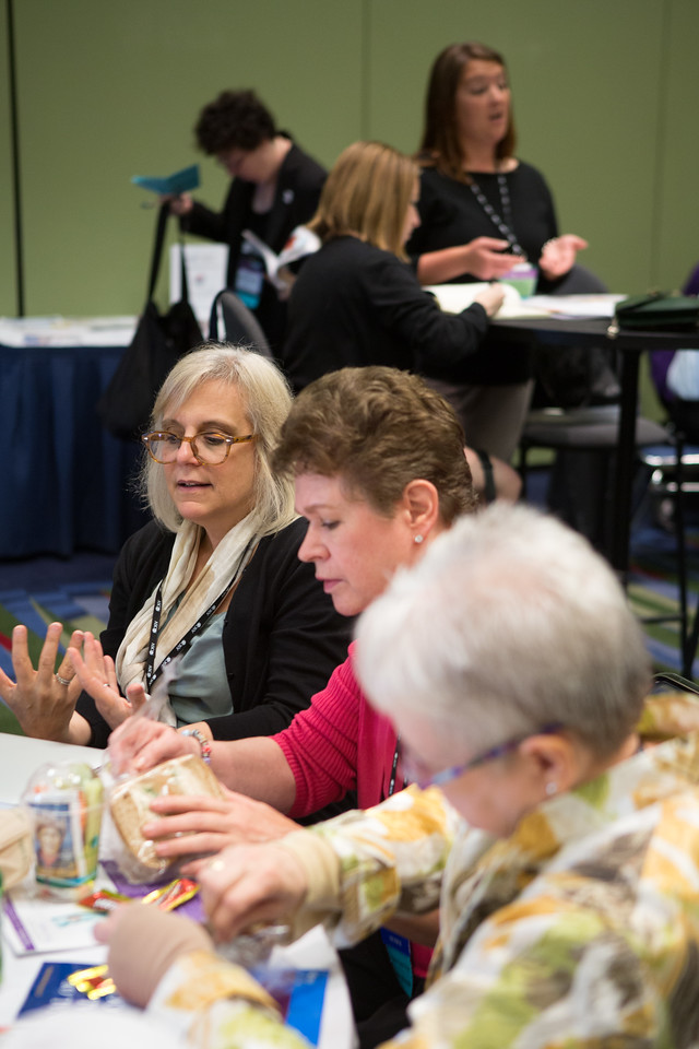 Chicago, IL - ASCO 2013 Annual Meeting: - Attendees during Patient Advocate Lounge at the American Society for Clinical Oncology (ASCO) Annual Meeting here today, Friday May 31, 2013.  Over 30,000 physicians, researchers and healthcare professionals from over 100 countries are attending the meeting which is being held at the McCormick Convention center and features the latest cancer research in the areas of basic and clinical science. Photo by © ASCO/Scott Morgan 2013 Technical Questions: todd@toddbuchanan.com; ASCO Contact: photos@asco.org