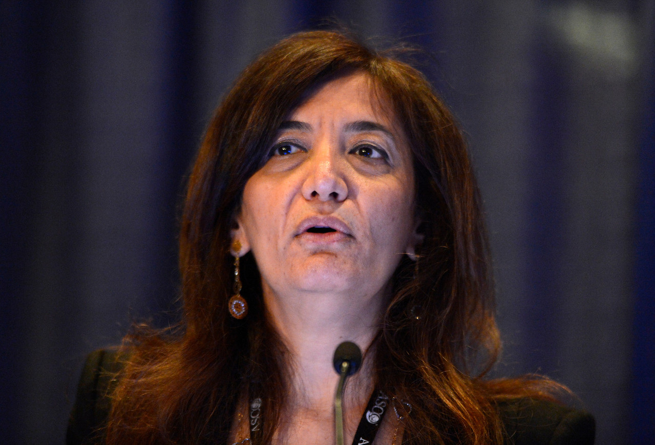 Chicago, IL - ASCO 2013 Annual Meeting: - Najat C. Daw, M.D.,  speaks during Ed Ses: Photons or Protons for Non-Central Nervous System Malignancies in Children: Point/Counterpoint at the American Society for Clinical Oncology (ASCO) Annual Meeting here today, Saturday June 1, 2013.  Over 30,000 physicians, researchers and healthcare professionals from over 100 countries are attending the meeting which is being held at the McCormick Convention center and features the latest cancer research in the areas of basic and clinical science. Photo by © ASCO/Phil McCarten 2013 Technical Questions: todd@toddbuchanan.com; ASCO Contact: photos@asco.org
