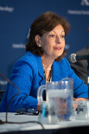 Chicago, IL - ASCO 2013 Annual Meeting: - Lynn M. Schuchter, MD, speaks during the Press Conference: Highlighted Research of the Day Press Briefing at the American Society for Clinical Oncology (ASCO) Annual Meeting here today, Friday May 31, 2013.  Over 30,000 physicians, researchers and healthcare professionals from over 100 countries are attending the meeting which is being held at the McCormick Convention center and features the latest cancer research in the areas of basic and clinical science. Photo by © ASCO/Scott Morgan 2013 Technical Questions: todd@toddbuchanan.com; ASCO Contact: photos@asco.org