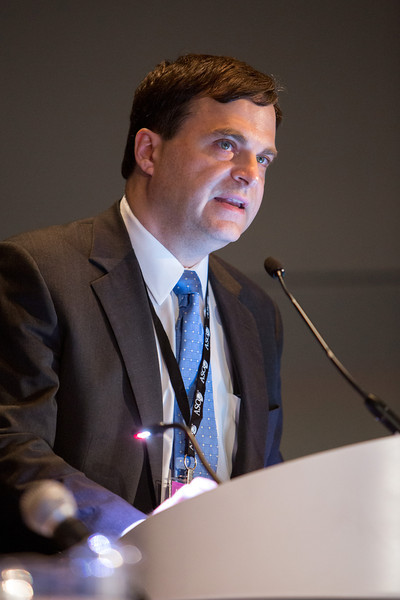 Chicago, IL - ASCO 2013 Annual Meeting: - Stephen Hodi speaks during the Melanoma Oral at the American Society for Clinical Oncology (ASCO) Annual Meeting here today, Friday May 31, 2013.  Over 30,000 physicians, researchers and healthcare professionals from over 100 countries are attending the meeting which is being held at the McCormick Convention center and features the latest cancer research in the areas of basic and clinical science. Photo by © ASCO/Scott Morgan 2013 Technical Questions: todd@toddbuchanan.com; ASCO Contact: photos@asco.org