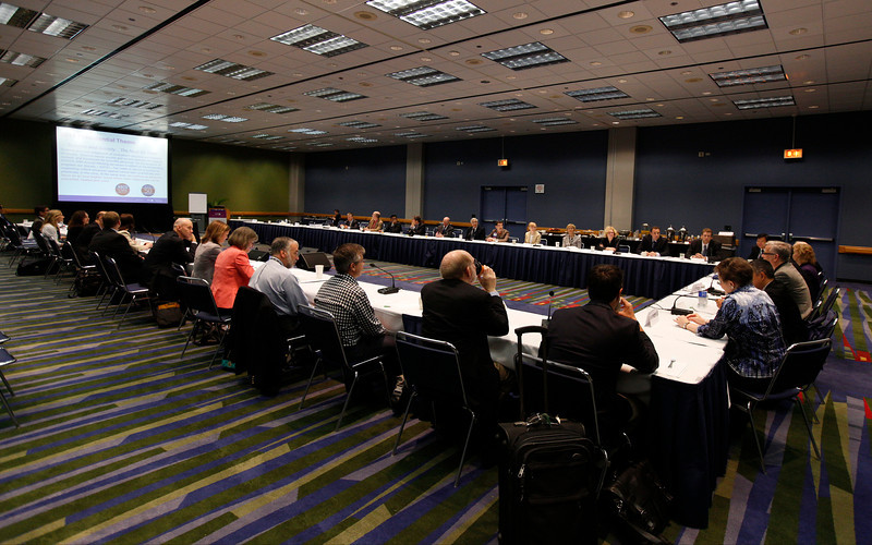Chicago, IL - ASCO 2013 Annual Meeting: - Attendees during ASCO University Editorial Board Meeting at the American Society for Clinical Oncology (ASCO) Annual Meeting here today, Saturday June 1, 2013.  Over 30,000 physicians, researchers and healthcare professionals from over 100 countries are attending the meeting which is being held at the McCormick Convention center and features the latest cancer research in the areas of basic and clinical science. Photo by © ASCO/Rodney White 2013 Technical Questions: todd@toddbuchanan.com; ASCO Contact: photos@asco.org