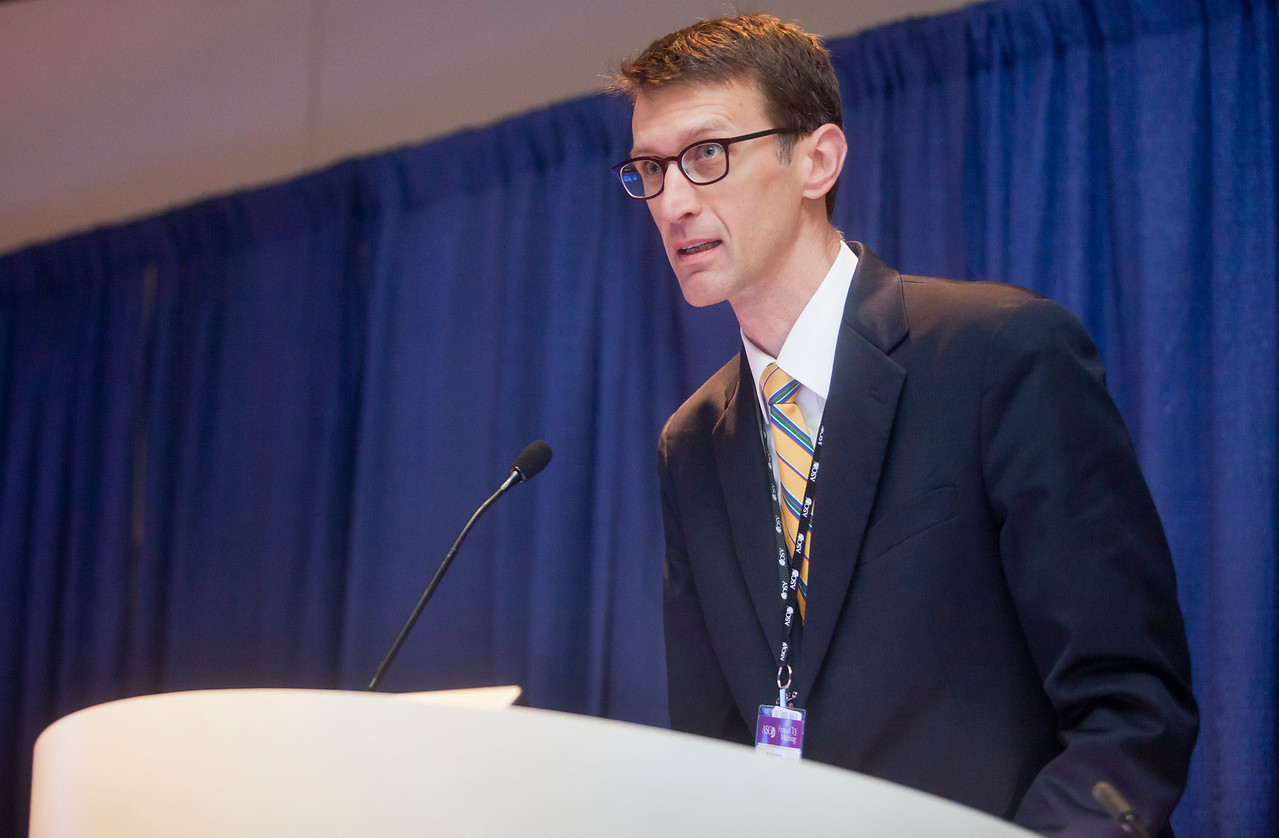 """Chicago, IL - ASCO 2013 Annual Meeting: - Jon Tilbert during """"What Is Professionalism in the Era of Personalized Global Cancer Care? Bridging What We Say, Teach, and Do"""" at the American Society for Clinical Oncology (ASCO) Annual Meeting here today, Saturday June 1, 2013.  Over 30,000 physicians, researchers and healthcare professionals from over 100 countries are attending the meeting which is being held at the McCormick Convention center and features the latest cancer research in the areas of basic and clinical science. Photo by © ASCO/Todd Buchanan 2013 Technical Questions: todd@toddbuchanan.com; ASCO Contact: photos@asco.orgZach Boyden-Holmes/JuiceChicago, IL - ASCO 2013 Annual Meeting: - Attendees during """"What Is Professionalism in the Era of Personalized Global Cancer Care? Bridging What We Say, Teach, and Do"""" at the American Society for Clinical Oncology (ASCO) Annual Meeting here today, Saturday June 1, 2013.  Over 30,000 physicians, researchers and healthcare professionals from over 100 countries are attending the meeting which is being held at the McCormick Convention center and features the latest cancer research in the areas of basic and clinical science. Photo by © ASCO/Todd Buchanan 2013 Technical Questions: todd@toddbuchanan.com; ASCO Contact: photos@asco.orgZach Boyden-Holmes/JuiceChicago, IL - ASCO 2013 Annual Meeting: - Jon Tilbert during """"What Is Professionalism in the Era of Personalized Global Cancer Care? Bridging What We Say, Teach, and Do"""" at the American Society for Clinical Oncology (ASCO) Annual Meeting here today, Saturday June 1, 2013.  Over 30,000 physicians, researchers and healthcare professionals from over 100 countries are attending the meeting which is being held at the McCormick Convention center and features the latest cancer research in the areas of basic and clinical science. Photo by © ASCO/Todd Buchanan 2013 Technical Questions: todd@toddbuchanan.com; ASCO Contact: photos@asco.orgZach Boyden-Holmes/JuiceChicago, IL - ASCO 201"""
