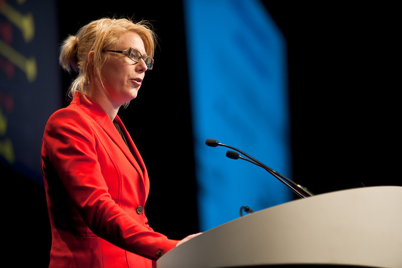 Chicago, IL - ASCO 2013 Annual Meeting: - Miriam Koopman, M, PhD, at the American Society for Clinical Oncology (ASCO) Annual Meeting here today, Saturday June 1, 2013.  Over 30,000 physicians, researchers and healthcare professionals from over 100 countries are attending the meeting which is being held at the McCormick Convention center and features the latest cancer research in the areas of basic and clinical science. Photo by © ASCO/Brian Powers 2013 Technical Questions: todd@toddbuchanan.com; ASCO Contact: photos@asco.org