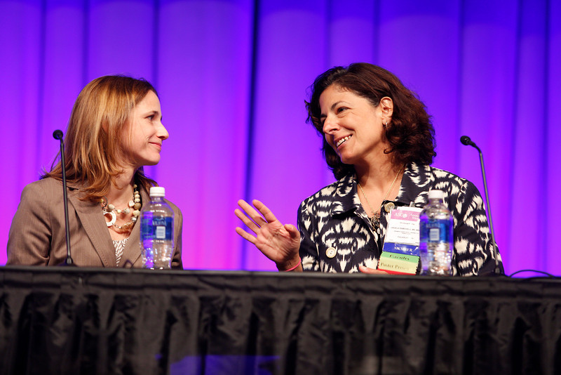 Chicago, IL - ASCO 2013 Annual Meeting: - Angela DeMichele (chair) right; Tatiana Michelle Prowell during Ed Ses: Pushing the Limits of Upfront Care and Drug Development: Neoadjuvant Opportunities in Breast Cancer at the American Society for Clinical Oncology (ASCO) Annual Meeting here today, Saturday June 1, 2013.  Over 30,000 physicians, researchers and healthcare professionals from over 100 countries are attending the meeting which is being held at the McCormick Convention center and features the latest cancer research in the areas of basic and clinical science. Photo by © ASCO/Rodney White 2013 Technical Questions: todd@toddbuchanan.com; ASCO Contact: photos@asco.org