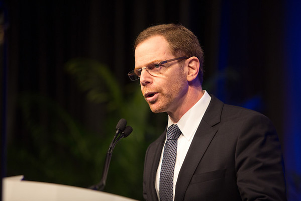 Chicago, IL - ASCO 2013 Annual Meeting: - Mark R. Gilbert, MD, speaks during the Plenary Session at the American Society for Clinical Oncology (ASCO) Annual Meeting here today, Friday May 31, 2013.  Over 30,000 physicians, researchers and healthcare professionals from over 100 countries are attending the meeting which is being held at the McCormick Convention center and features the latest cancer research in the areas of basic and clinical science. Photo by © ASCO/Scott Morgan 2013 Technical Questions: todd@toddbuchanan.com; ASCO Contact: photos@asco.org