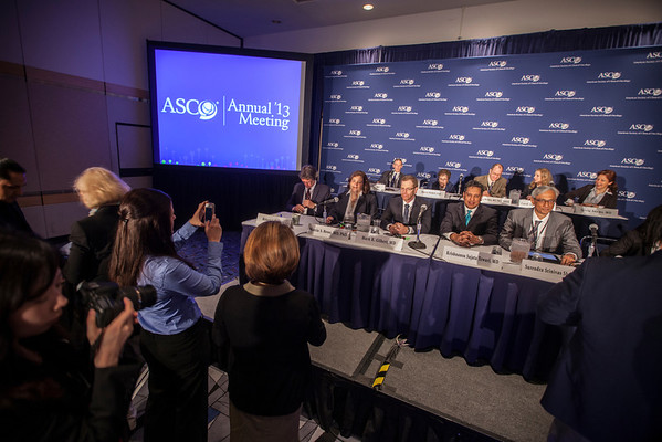 "Chicago, IL - ASCO 2013 Annual Meeting: - Presenters and experts  at the American Society for Clinical Oncology (ASCO) Annual Meeting here today, Saturday June 1, 2013.  Over 30,000 physicians, researchers and healthcare professionals from over 100 countries are attending the meeting which is being held at the McCormick Convention center and features the latest cancer research in the areas of basic and clinical science. Photo by © ASCO/Silas Crews 2013 Technical Questions: todd@toddbuchanan.com; ASCO Contact: photos@asco.orgChicago, IL - ASCO 2013 Annual Meeting: - Presenters and experts during ""PRESS CONFERENCE: Highlighted Research of the Day at the American Society for Clinical Oncology (ASCO) Annual Meeting here today, Saturday June 1, 2013.  Over 30,000 physicians, researchers and healthcare professionals from over 100 countries are attending the meeting which is being held at the McCormick Convention center and features the latest cancer research in the areas of basic and clinical science. Photo by © ASCO/Silas Crews 2013 Technical Questions: todd@toddbuchanan.com; ASCO Contact: photos@asco.orgChicago, IL - ASCO 2013 Annual Meeting: - Presenters and experts during ""PRESS CONFERENCE: Highlighted Research of the Day at the American Society for Clinical Oncology (ASCO) Annual Meeting here today, Saturday June 1, 2013.  Over 30,000 physicians, researchers and healthcare professionals from over 100 countries are attending the meeting which is being held at the McCormick Convention center and features the latest cancer research in the areas of basic and clinical science. Photo by © ASCO/Silas Crews 2013 Technical Questions: todd@toddbuchanan.com; ASCO Contact: photos@asco.org"