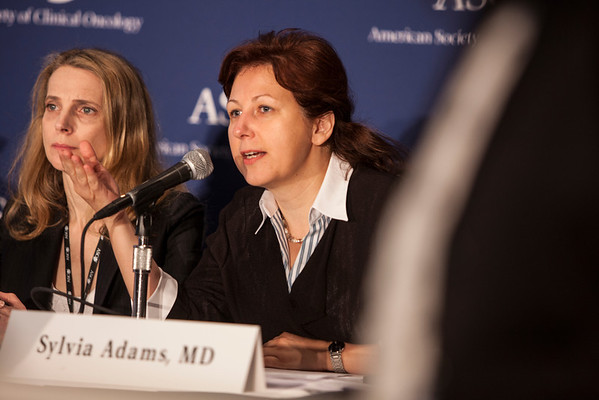 """Chicago, IL - ASCO 2013 Annual Meeting: - Dr. Sylvia Adams  at the American Society for Clinical Oncology (ASCO) Annual Meeting here today, Sunday June 2, 2013.  Over 30,000 physicians, researchers and healthcare professionals from over 100 countries are attending the meeting which is being held at the McCormick Convention center and features the latest cancer research in the areas of basic and clinical science. Photo by © ASCO/Silas Crews 2013 Technical Questions: todd@toddbuchanan.com; ASCO Contact: photos@asco.orgChicago, IL - ASCO 2013 Annual Meeting: - Dr. Sylvia Adams during """"PRESS CONFERENCE: Highlighted Research of the Day at the American Society for Clinical Oncology (ASCO) Annual Meeting here today, Sunday June 2, 2013.  Over 30,000 physicians, researchers and healthcare professionals from over 100 countries are attending the meeting which is being held at the McCormick Convention center and features the latest cancer research in the areas of basic and clinical science. Photo by © ASCO/Silas Crews 2013 Technical Questions: todd@toddbuchanan.com; ASCO Contact: photos@asco.orgChicago, IL - ASCO 2013 Annual Meeting: - Dr. Sylvia Adams during """"PRESS CONFERENCE: Highlighted Research of the Day at the American Society for Clinical Oncology (ASCO) Annual Meeting here today, Sunday June 2, 2013.  Over 30,000 physicians, researchers and healthcare professionals from over 100 countries are attending the meeting which is being held at the McCormick Convention center and features the latest cancer research in the areas of basic and clinical science. Photo by © ASCO/Silas Crews 2013 Technical Questions: todd@toddbuchanan.com; ASCO Contact: photos@asco.org"""