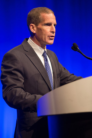 Chicago, IL - ASCO 2013 Annual Meeting: - Howard A. Fine, MD, speaks during the Plenary Session at the American Society for Clinical Oncology (ASCO) Annual Meeting here today, Friday May 31, 2013.  Over 30,000 physicians, researchers and healthcare professionals from over 100 countries are attending the meeting which is being held at the McCormick Convention center and features the latest cancer research in the areas of basic and clinical science. Photo by © ASCO/Scott Morgan 2013 Technical Questions: todd@toddbuchanan.com; ASCO Contact: photos@asco.org