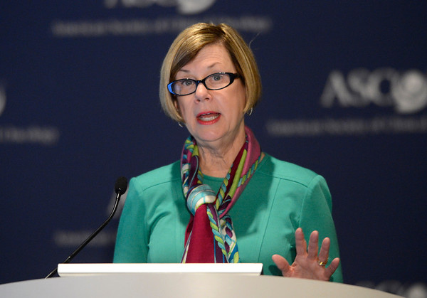 Chicago, IL - ASCO 2013 Annual Meeting: - ASCO President Sandra M. Swain, M.D., F.A.C.P., speaks during the Opening Press Briefing at the American Society for Clinical Oncology (ASCO) Annual Meeting here today, Friday May 31, 2013.  Over 30,000 physicians, researchers and healthcare professionals from over 100 countries are attending the meeting which is being held at the McCormick Convention center and features the latest cancer research in the areas of basic and clinical science. Photo by © ASCO/Phil McCarten 2013 Technical Questions: todd@toddbuchanan.com; ASCO Contact: photos@asco.org