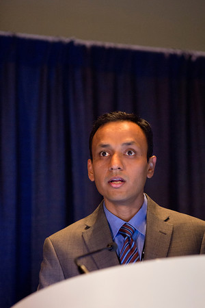 Chicago, IL - ASCO 2013 Annual Meeting: - Amit Agarwal during Ex Ed: On the Shoulders of Giants: Historical Perspective on Lung Cancer Molecular Profiling and Genomics ?Where We've Been and Where We're Going at the American Society for Clinical Oncology (ASCO) Annual Meeting here today, Friday May 31, 2013.  Over 30,000 physicians, researchers and healthcare professionals from over 100 countries are attending the meeting which is being held at the McCormick Convention center and features the latest cancer research in the areas of basic and clinical science. Photo by © ASCO/Todd Buchanan 2013 Technical Questions: todd@toddbuchanan.com; ASCO Contact: photos@asco.org
