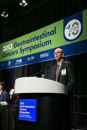 San Francisco, CA - 2013 Gastrointestinal Cancers Symposium - San Francisco, CA: Jeffrey Schwimmer, MD discusses Metabolic Syndrome and Non-alcoholic Steato-hepatitis (NASH) during the General Session I: Cancers of the Pancreas, Small Bowel, and Hepatobiliary Tract: Prevention, Screening, and Diagnosis at the Gastrointestinal Cancers Symposium 2013 here today, Friday January 25, 2013. The Symposium is supported by ASCO, the American Society of Clinical Oncology, ASTRO, The American Society of Radiation Oncology, SSO, Society of Surgical Oncology and the AGA Institute. Over 3,000 physicians, researchers and allied healthcare professionals are attending the meeting which is being held at the Moscone West center in San Francisco and features the latest Gastrointestinal Cancers research in the areas of basic and clinical science.  Date: Friday January 25, 2013.  Photo by © ASCO/Todd Buchanan 2013 Technical Questions: todd@medmeetingimages.com; Phone: 612-226-5154.
