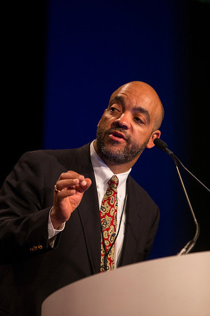 Orlando, FL - 2013 Genitourinary Cancers Symposium - Orlando, FL: Mack Roach, MD, FACR, Session Chairman discusses presentations from during the General Session I: : Prostate Cancer: Active Surveillance and Screening at the Genitourinary Cancers Symposium 2013 here today, Thursday February 14, 2013. The Symposium is supported by ASCO, the American Society of Clinical Oncology, ASTRO, the American Society of Radiation Oncology and SUO, the Society of Urologic Oncology. Over 2,500 physicians, researchers and allied healthcare professionals are attending the meeting which is being held at the Rosen Shingle Creek in Orlando and features the latest Genitourinary Cancers research in the areas of basic and clinical science.  Date: Thursday February 14, 2013.  Photo by © ASCO/Todd Buchanan 2013 Technical Questions: todd@medmeetingimages.com; Phone: 612-226-5154.