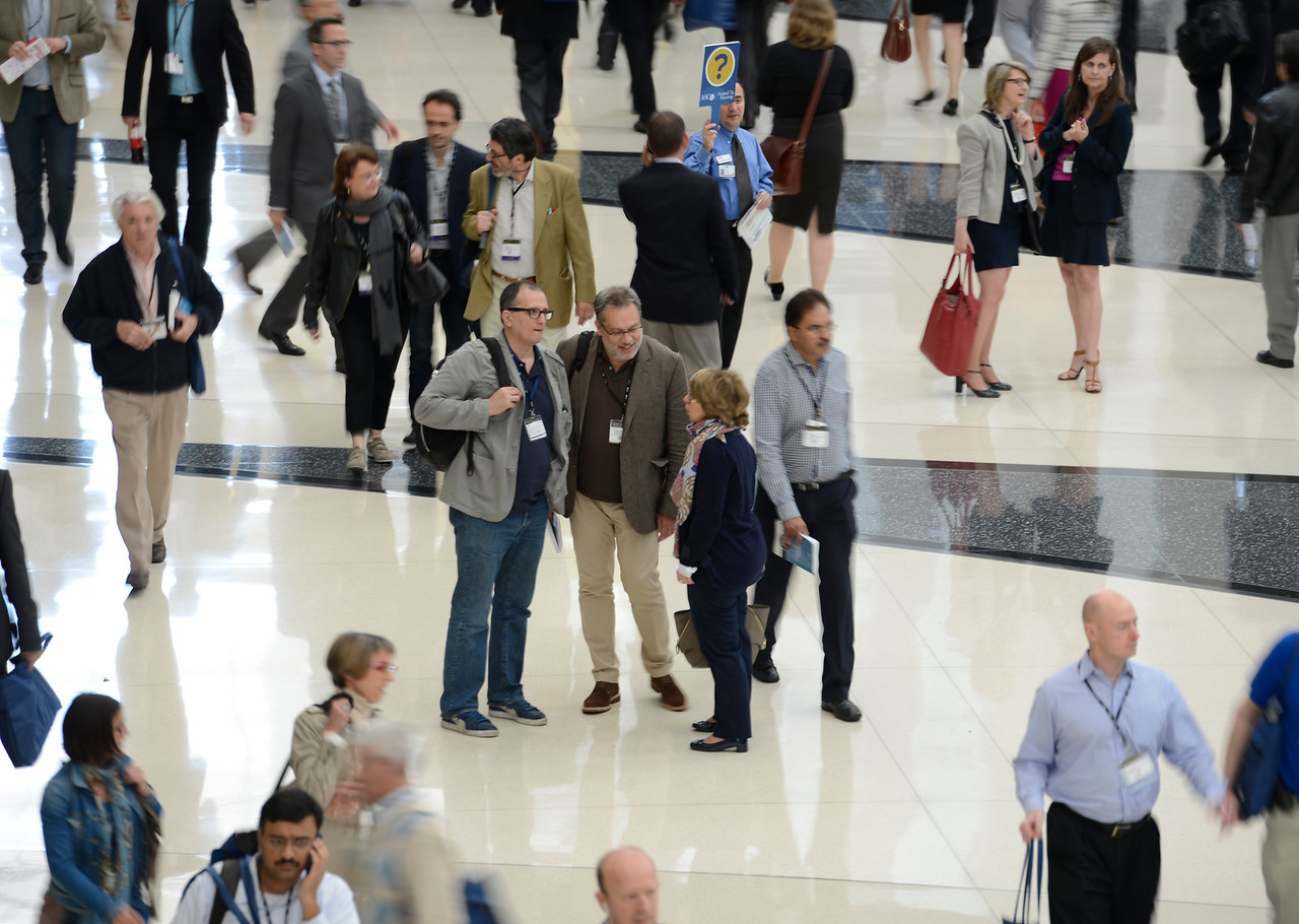 Chicago, IL - The 2014 ASCO Annual Meeting - General views \\ at the American Society of Clinical Oncology Annual Meeting here today, Saturday May 31, 2014. More than 30,000 physicians, researchers, health care professionals, cancer survivors and patient advocates are expected to attend the 50th Anniversary meeting at the McCormick Convention Center. The Annual Meeting highlights the latest findings in all major areas of oncology from basic through clinical and epidemiological studies.  Photo by © ASCO/Phil McCarten 2014 Technical Questions: todd@medmeetingimages.com