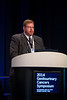 "San Francisco, CA -GU Cancers Symposium 2014: Jonathan E. Rosenberg, MD discusses Abstract #285 ""Somatic genomic alterations in urothelial cancer: Results of the Cancer Genome Atlas (TCGA) bladder cancer (BC) analysis"" during General Session 5: Advances in Therapy for Urothelial Carcinoma at the 2014 Genitourinary Cancers Symposium here today, Friday January 31, 2014. Over 3,100 physicians, researchers, patient advocates and healthcare professionals from over 50 countries attended the meeting which features the latest research on genitourinary cancer treatment and prevention. Photo by © ASCO/Todd Buchanan 2014 Technical Questions: todd@medmeetingimages.com"