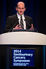 "San Francisco, CA -GU Cancers Symposium 2014: Todd Matthew Morgan, MD discusses ""Models, Nomograms, Biomarkers, and Risk: Can We Measure Heterogeneity for Clinical Benefit and Decision Making?"" during General Session 7: Clinical and Genetic Heterogeneity in Renal Cell Carcinoma at the 2014 Genitourinary Cancers Symposium here today, Saturday February 1, 2014. Over 3,100 physicians, researchers, patient advocates and healthcare professionals from over 50 countries attended the meeting which features the latest research on genitourinary cancer treatment and prevention. Photo by © ASCO/Todd Buchanan 2014 Technical Questions: todd@medmeetingimages.com"