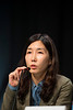 "San Francisco, CA -GI Cancers Symposium 2014: Eun Ran Kim, M.D, discusses Abstract #2 titled ""Long-term outcomes of endoscopic resection for early gastric cancer: Appropriate surveillance strategy based on the incidence and patterns of local, metachronous, and extragastric recurrence"" during General Session 2: Gastric Cancer—Etiology, Development, and Implications for Therapy at the 2014 Gastrointestinal Cancers Symposium here today, Thursday January 16, 2014. Over 3,300 physicians, researchers, patient advocates and healthcare professionals from over 50 countries attended the meeting which features the latest research on gastrointestinal cancer treatment and prevention. Photo by © ASCO/Todd Buchanan 2014 Technical Questions: todd@medmeetingimages.com"