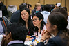 San Francisco, CA -GI Cancers Symposium 2014: Attendees and mentors discuss career advice during the Fellows Networking Luncheon   at the 2014 Gastrointestinal Cancers Symposium here today, Thursday January 16, 2014. Over 3,300 physicians, researchers, patient advocates and healthcare professionals from over 50 countries attended the meeting which features the latest research on gastrointestinal cancer treatment and prevention. Photo by © ASCO/Todd Buchanan 2014 Technical Questions: todd@medmeetingimages.com