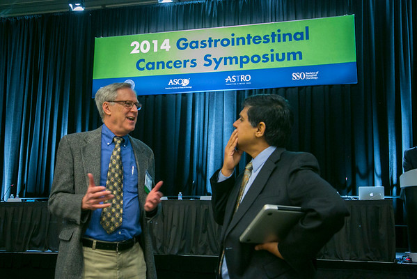 San Francisco, CA -GI Cancers Symposium 2014: Q & A  during the General Session 1: Barrett's Esophagus, Genetics, and Management session at the 2014 Gastrointestinal Cancers Symposium here today, Thursday January 16, 2014. Over 3,300 physicians, researchers, patient advocates and healthcare professionals from over 50 countries attended the meeting which features the latest research on gastrointestinal cancer treatment and prevention. Photo by © ASCO/Todd Buchanan 2014 Technical Questions: todd@medmeetingimages.com