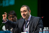 San Francisco, CA -GI Cancers Symposium 2014: Michel Kahaleh, MD speaks during the Q&A during the General Session 1: Barrett's Esophagus, Genetics, and Management session at the 2014 Gastrointestinal Cancers Symposium here today, Thursday January 16, 2014. Over 3,300 physicians, researchers, patient advocates and healthcare professionals from over 50 countries attended the meeting which features the latest research on gastrointestinal cancer treatment and prevention. Photo by © ASCO/Todd Buchanan 2014 Technical Questions: todd@medmeetingimages.com