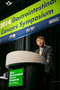 "San Francisco, CA -GI Cancers Symposium 2014: Andrew X. Zhu, MD, PhD discusses Abstract # 172 titled ""EVOLVE-1: Phase 3 study of everolimus for advanced HCC that progressed during or after sorafenib"" during the General Session 4: Advances in the Management of Liver Cancer at the 2014 Gastrointestinal Cancers Symposium here today, Friday January 17, 2014. Over 3,300 physicians, researchers, patient advocates and healthcare professionals from over 50 countries attended the meeting which features the latest research on gastrointestinal cancer treatment and prevention. Photo by © ASCO/Todd Buchanan 2014 Technical Questions: todd@medmeetingimages.com"