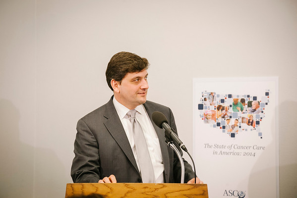 Dr. Blase Polite speaks at a briefing on Capitol Hill on Tuesday, March 11, 2014. ASCO released The State of Cancer in America: 2014, a first-ever, comprehensive report on profound changes and trends impacting cancer care in the United States.