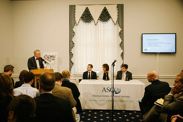Rep. Earl Blumenauer [D-Ore.] speaks at a briefing on Capitol Hill on Tuesday, March 11, 2014. ASCO released The State of Cancer in America: 2014, a first-ever, comprehensive report on profound changes and trends impacting cancer care in the United States.