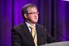 ASCO Immediate Past President Peter Paul Yu, MD, FACP, FASCO, presenting Matthew J. Ellis, MD, BChir, PhD, with the Gianni Bonadonna Award & Lecture