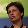Sabine Tejpar, MD, PhD, University of Leuven, KUL speaking, receiving award plaque