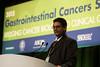 "Manish A. Shah, MD, New York-Presbyterian Hospital presenting ""Abstract 2: Randomized phase II study of FOLFOX +/- MET inhibitor, onartuzumab (O), in advanced gastroesophageal adenocarcinoma (GEC),"""