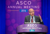 Charles M. Rudin, MD, PhD, presenting LBA8505, Safety and efficacy of single-agent rovalpituzumab tesirine (SC16LD6.5), a delta-like protein 3 (DLL3)-targeted antibody-drug conjugate (ADC) in recurrent or refractory small cell lung cancer (SCLC). during L