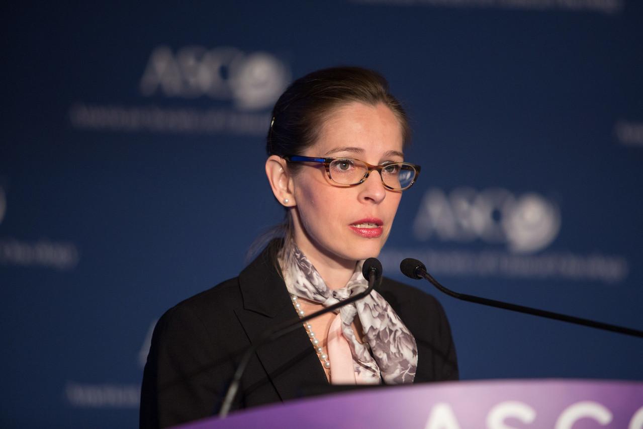 Julie Lemieux, MD, MSc, speaks during Plenary Press Briefing