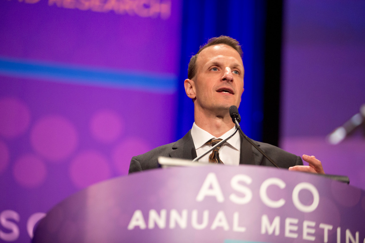 Philippe Armand, MD, PhD, speaks during Immunotherapeutic Approaches to Treating Hematologic Malignancies
