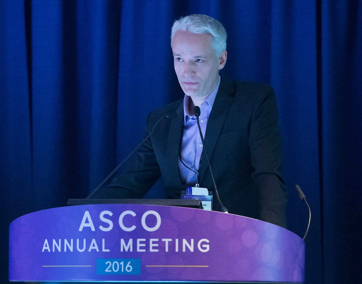 Robin Lewis Jones, MD, speaks during The Role of Chemotherapy in the Neoadjuvant, Adjuvant, and Metastatic Setting for Patients With Soft Tissue Sarcoma: Where Do We Stand in 2016?