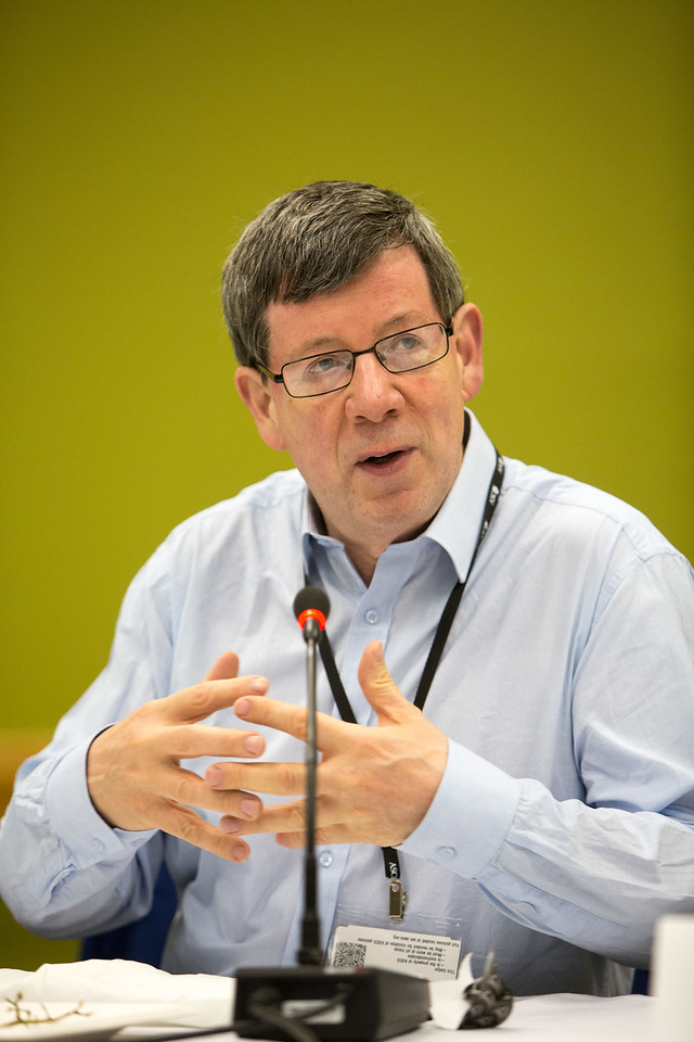 Journal of Global Oncology Editor in Chief Dr. David Kerr speaks during JGO Editors Meeting