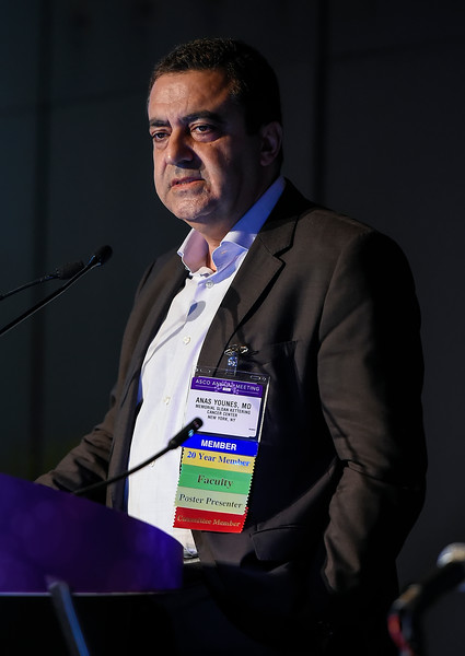 Anas Younes, MD, speaks during Hematologic Malignancies? Lymphoma and Chronic Lymphocytic Leukemia Oral Abstract Session