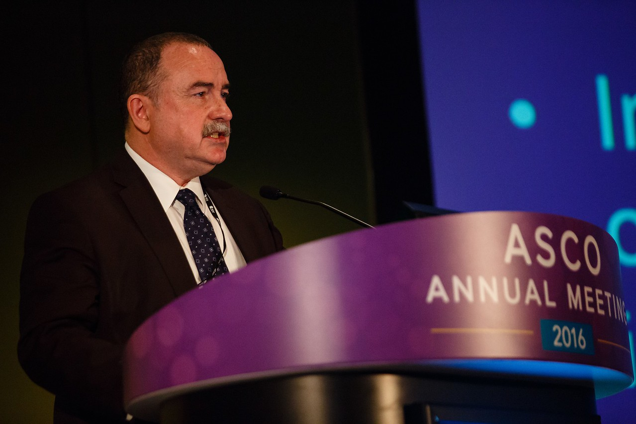 Gilles Vassal, MD, PhD, presents Abstract 11509 during Precision Medicine: Making Progress for Patient Benefit