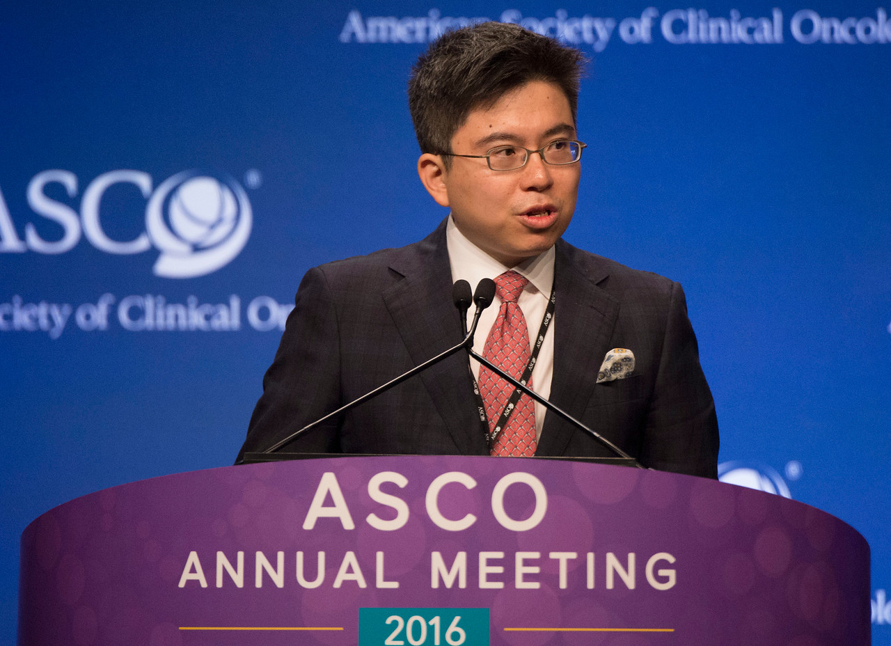 Stephen Lam Chan, FRCP, speaks during the Gastrointestinal (Noncolorectal) Cancer Oral Abstract Session