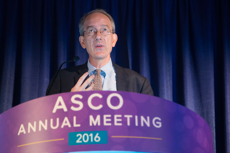 Co-chairs Jose Baselga, MD, PhD and Julie Vose, MD, MBA, FASCO, during ASCO/American Association for Cancer Research (AACR) Joint Session: The Next Frontier of Genomics in the Clinic and Clinical Trials