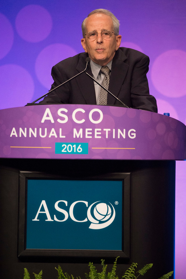 Stuart A. Grossman, MD, discusses LBA2 during Plenary Session including Science of Oncology Award and Lecture