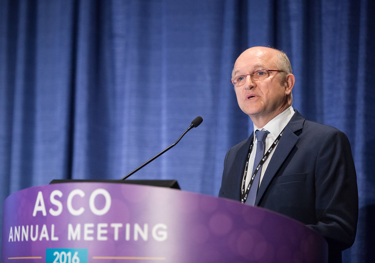 Pierre-Louis Soubeyran, MD, PhD, delivering the B.J. Kennedy Lecture during B.J. Kennedy Award and Lecture for Scientific Excellence in Geriatric Oncology