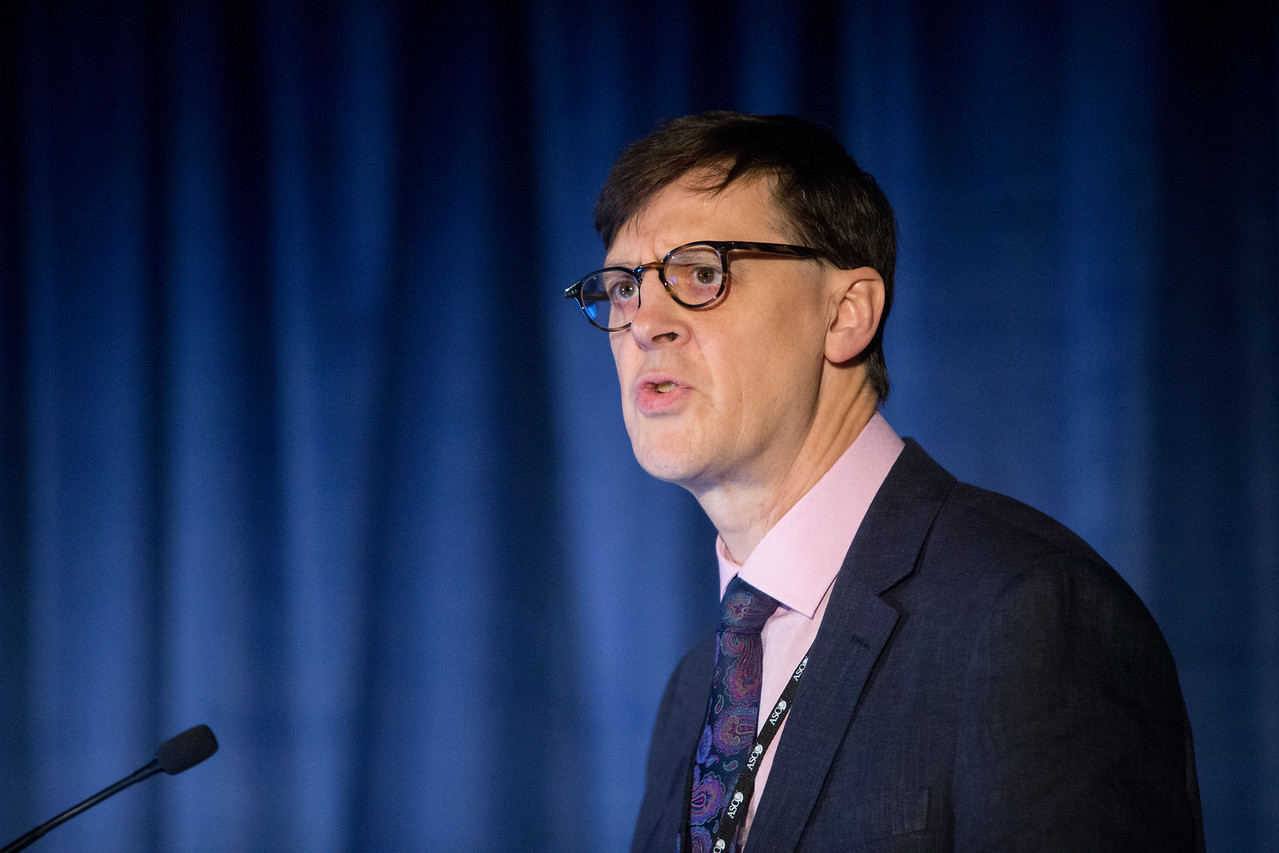 Jeremy Whelan, MD, presents Abstract 11000 during Sarcoma Oral Abstract Session