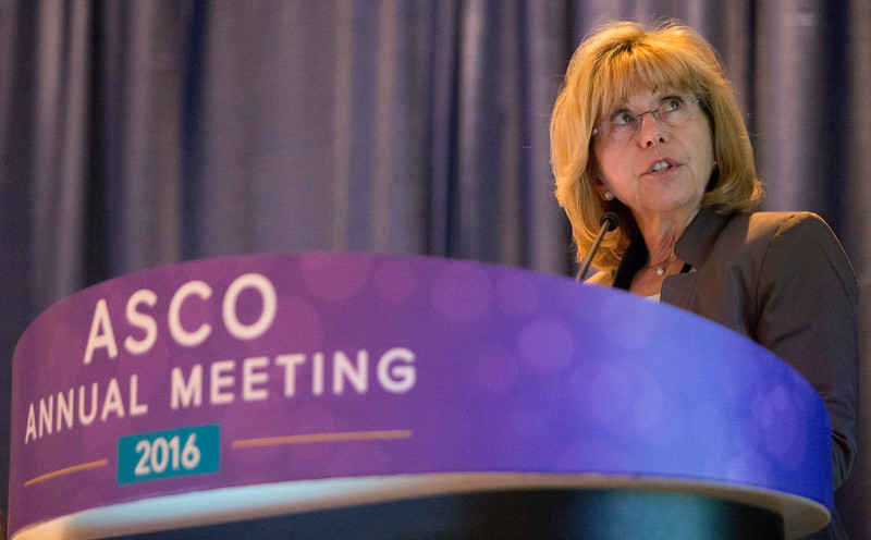 Ruth Ladenstein, MD, MBA, cPM, presents Abstract 10500 during Pediatric Oncology I Oral Abstract Session